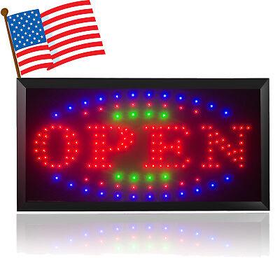 110220v Bright Led Open Store Restaurant Business Bar Light Sign Neon Switch Us