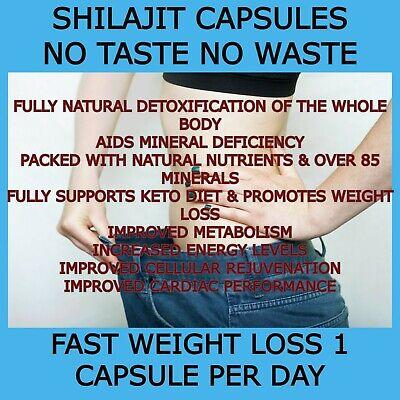 Shilajit Shilajeet 60 Caps extract 40% FULVIC ACID NO WASTE NO TASTE ONLY £11.99