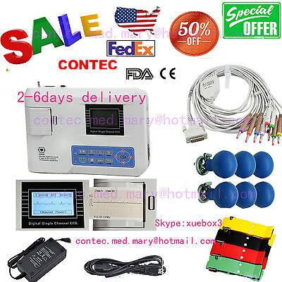 Digital Single Channel 12-lead Ecgekg Machine Electrocardiograph Fda Us Seller