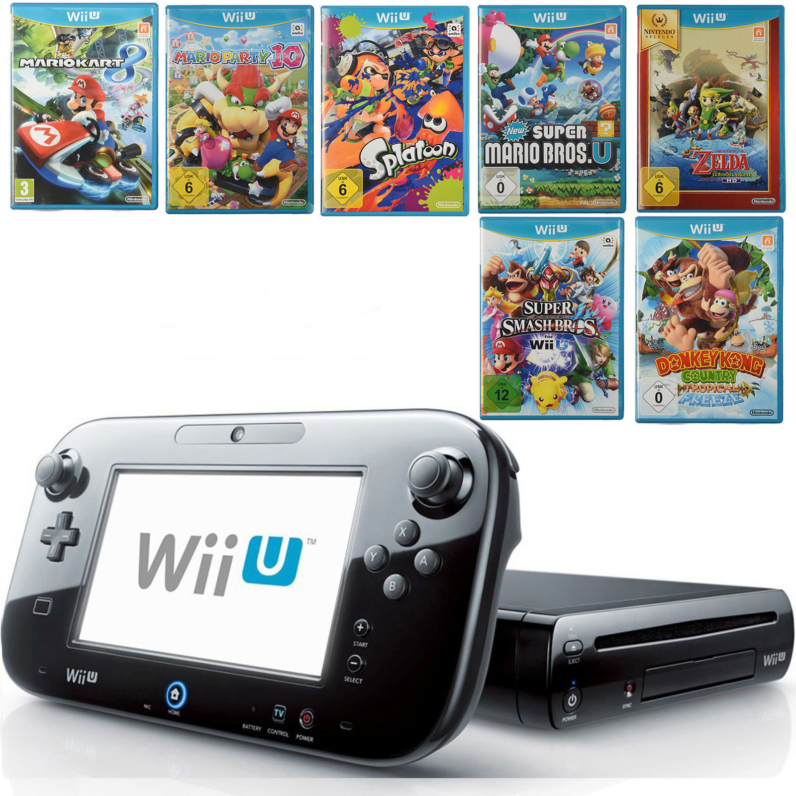 nintendo wii u test vergleich nintendo wii u g nstig. Black Bedroom Furniture Sets. Home Design Ideas