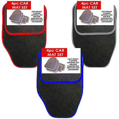 4 PIECE FRONT  REAR BLACK CAR MAT CARPET NON SLIP GRIP UNIVERSAL FLOOR MATS