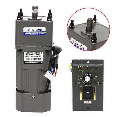 110v Ac Gear Motor Electric Variable Speed Reduction Controller 27rpm 150 90w