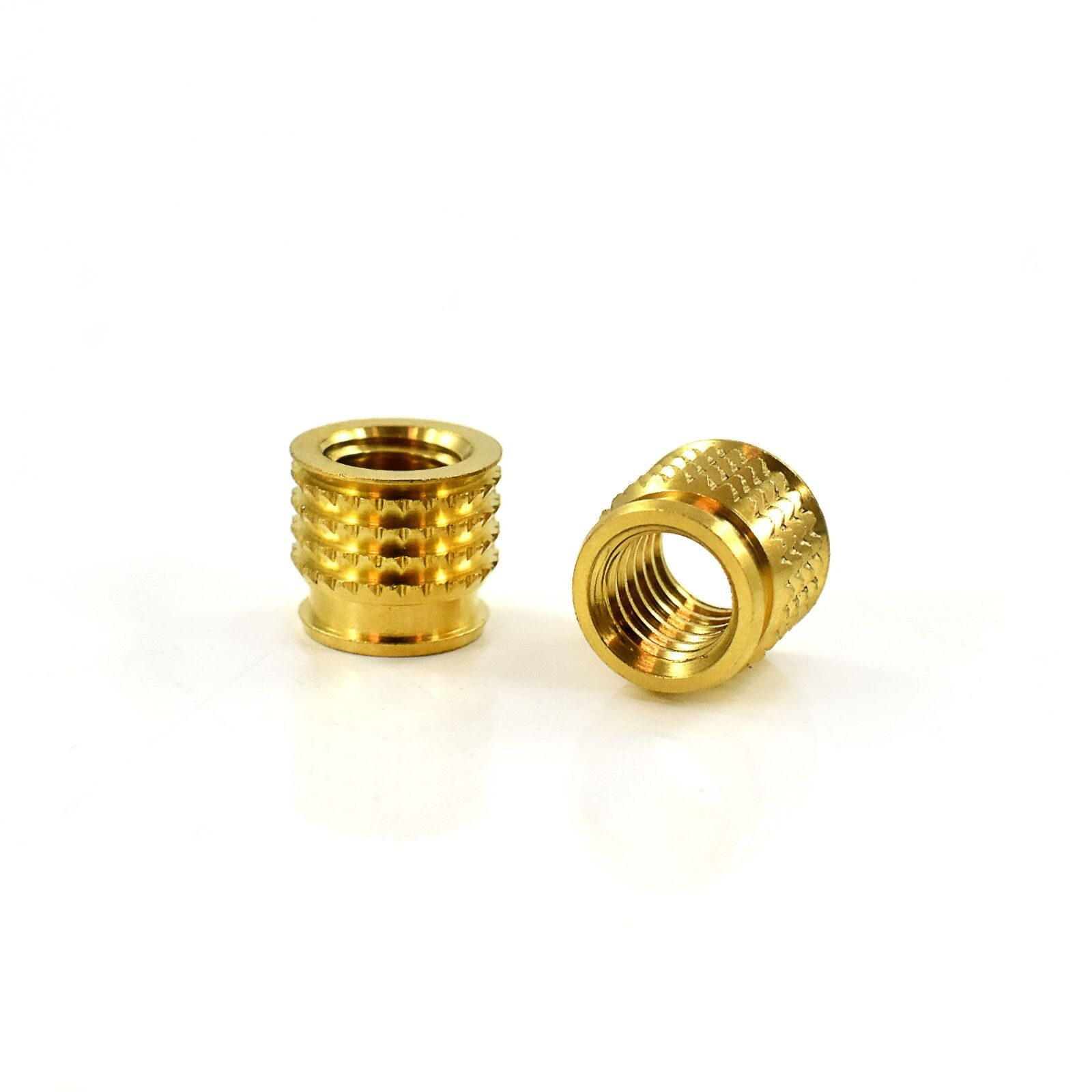 Pack of 50 x M6 x 12.3mm Threaded Brass Inserts for Plastic