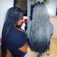 Box Braids Weaves Dreadlocks70$ also.avail.same.day 438-927-5842