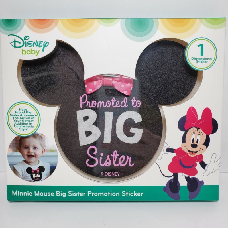 Disney Baby Minnie Mouse Big Sister Promotion Sticker