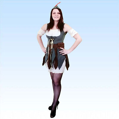 Robin Hood Damen Kostüm Gr. S-XL Mittelalter Mittelalterkostüm Fasching Sherwood
