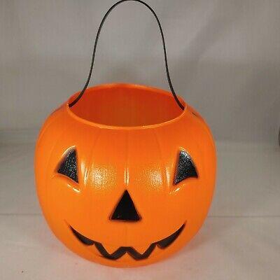 Empire Halloween Pumpkin Candy Trick Or Treat Bucket Plastic Blow Mold Vintage