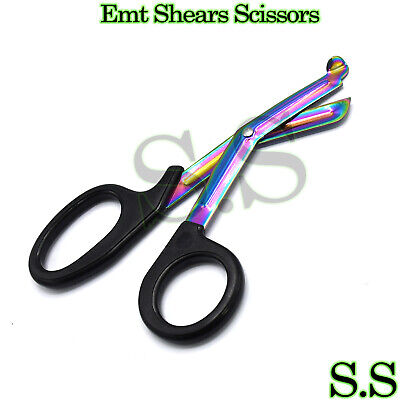 Rainbow Blade Tactical Shears Emt Scissors Black Handle 7.25 Aid Tools