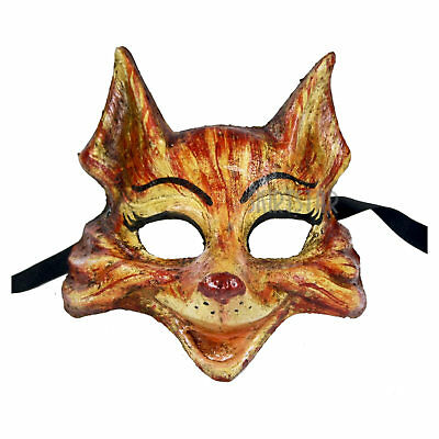 Adult Teen Authentic Venetian Animal Red Fox Home Wall Decor Costume Face Mask