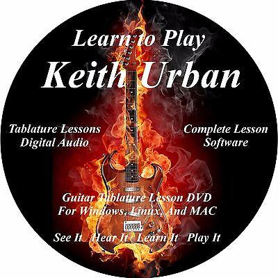 Keith Urban 159 Guitar Tabs Lesson Cd   2 Backing Tracks   Bonus