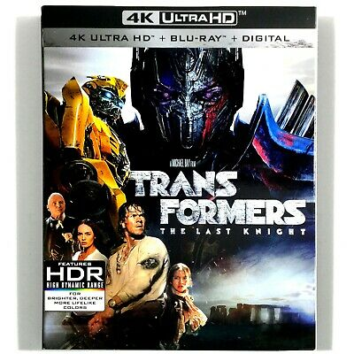 Transformers: The Last Knight (3-Disc 4k Ultra HD/ Blu-ray, 2017) Like New !