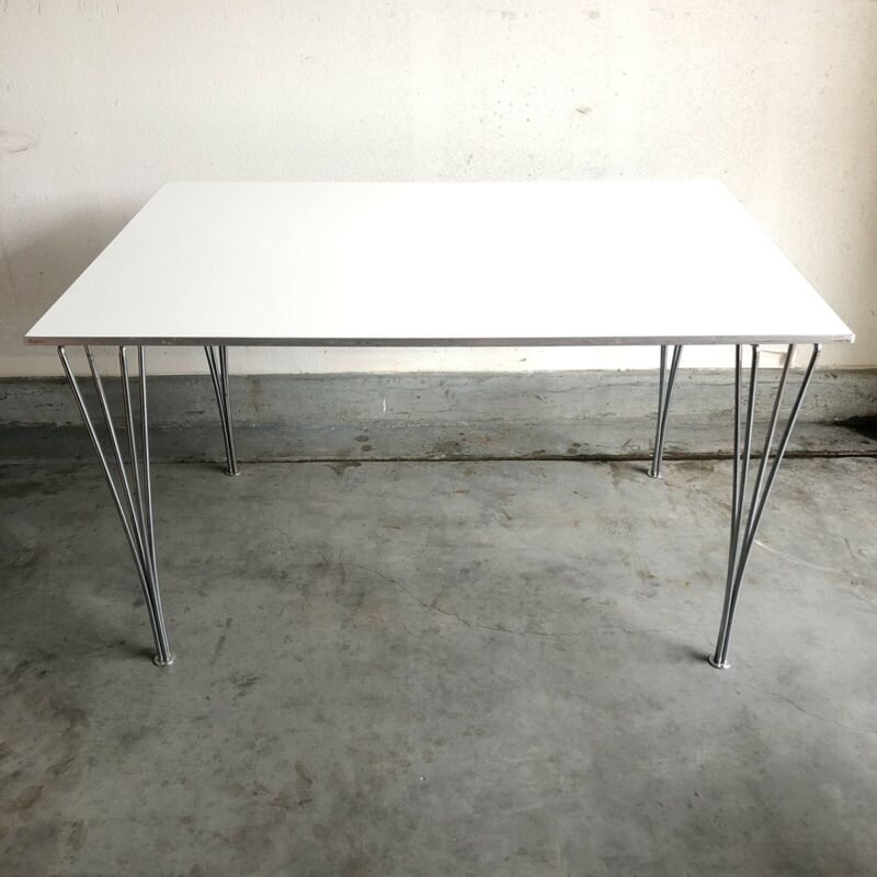 1986 Danish Modern Vintage Fritz Hansen Super Elliptical Span Leg Table Denmark