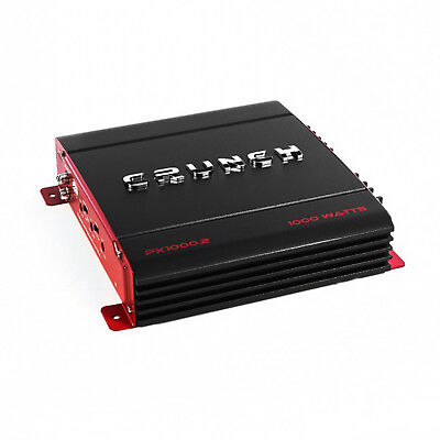 (Crunch 2 Channel 1000 Watt Amp A/B Class Car Audio Stereo Amplifier | PX-1000.2)