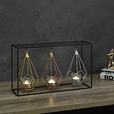 Deko Kerzenständer 3-fach Teelichthalter Kerzenhalter Windlichthalter