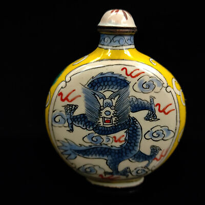 China/'s ancient Cloisonne snuff bottle is hand painted with exquisite patterns