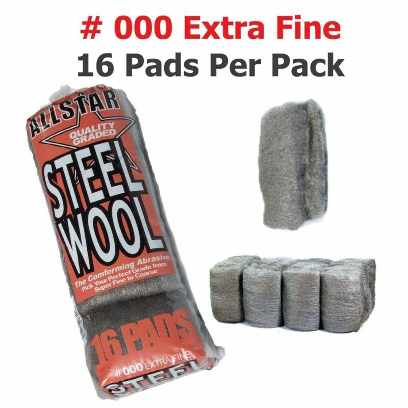 Steel Wool 16 pad   All Star High-Quality Super Fine Grade #000   Final Finish