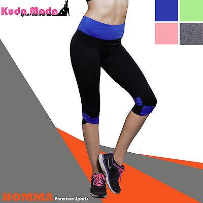 sports stretch womens workout running pants capri