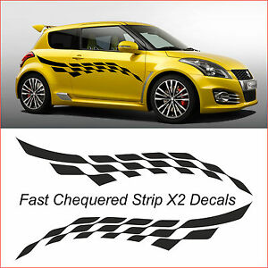 fast stripe x2 decals car graphics vinyl decals van custom ebay