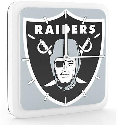 Nfl Oakland Raiders Home Office Room Decor Wall Desk Clock Magnet 6x6