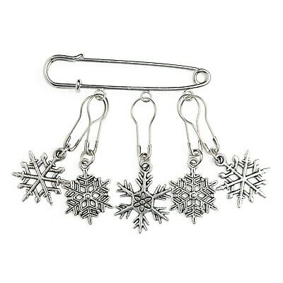 Stitch Markers for Knitting Crochet Snowflakes Gift Removable Locking Notions