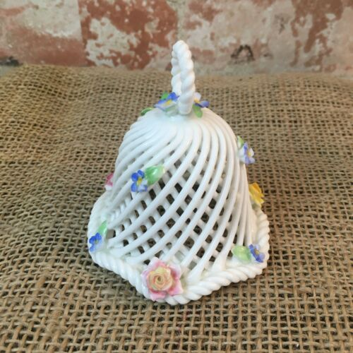 Beautiful Spaghetti Bell From Denton China England Applied Flowers throughout