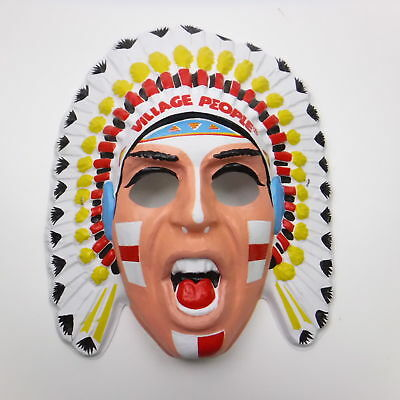 Village People Halloween Mask Felipe the Indian Plastic 1979 YMCA ()