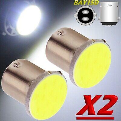 2 Led Luce Freno P21w Ba15s - S25 Cob Led Bianco 12v Retromarcia Stop 1156 12V