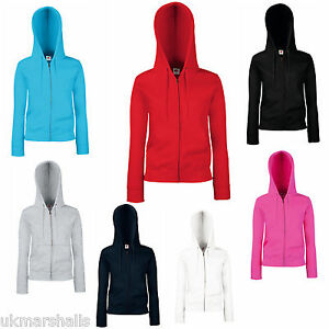 FRUIT-OF-THE-LOOM-LADY-FIT-ZIPPED-HOODIE-HOODY-SWEAT-5-COLOURS-SIZES-8-18