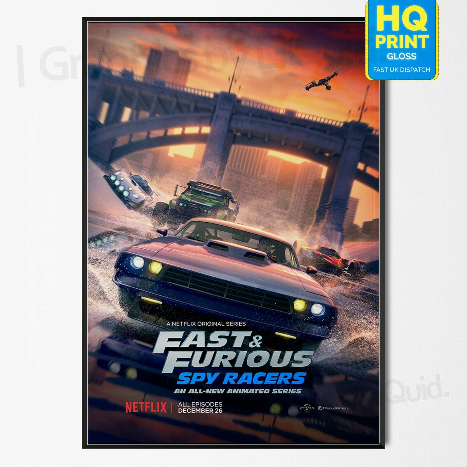 Fast And Furious 8 Movie Poster Print T496 A4 A3 A2 A1 A0|