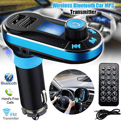 Auto Bluetooth FM Transmitter Wireless Radio MP3 Player Adapter USB Ladegerät DE Bluetooth-adapter, Mp3-player