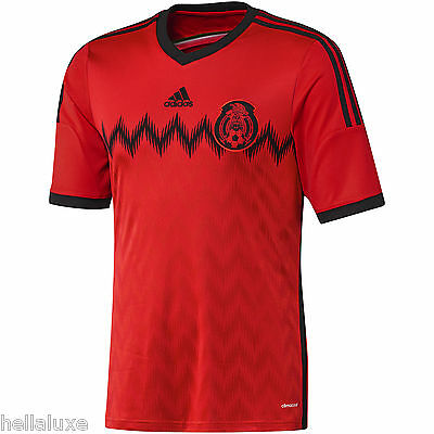 24dd93e0f nw-Adidas MEXICO FMF Football Soccer Shirt Brazil 2014 WORLD CUP Jersey~Men  sz L