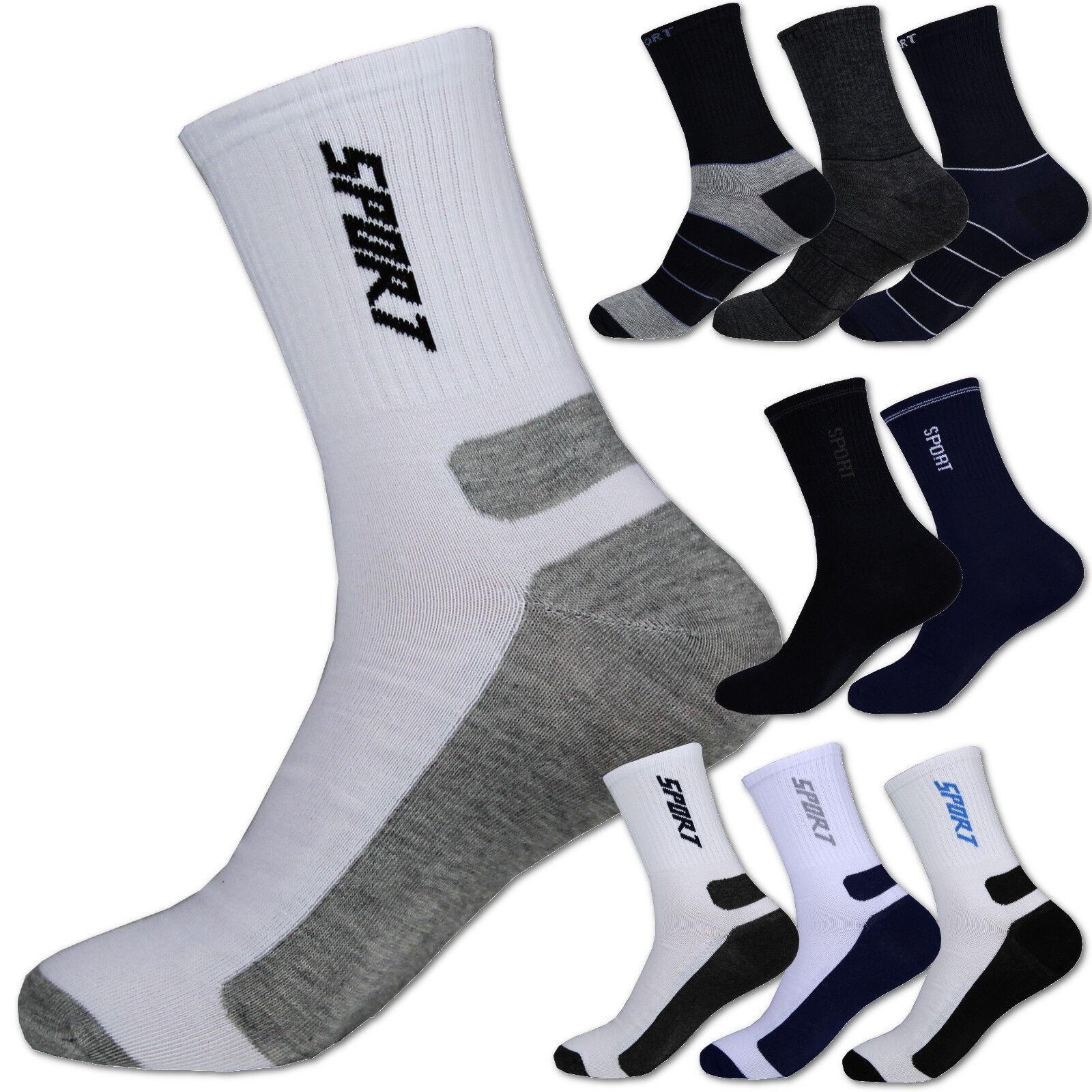 12-24 Paar SPORT Socken ✅ Tennissocken Herren Baumwolle weiß schwarz Funktion ✅