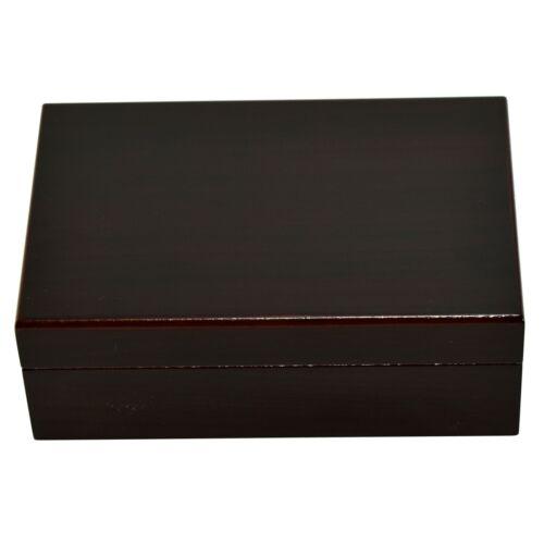 Mahogany Desktop Cigar Humidor with Humidifier - HUM-TR10