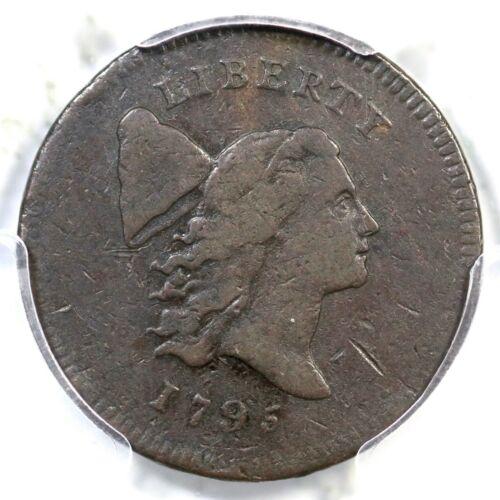 1795 C-6a R-2 PCGS VF 20 Plain Edge, No Pole Liberty Cap Half Cent Coin 1/2c