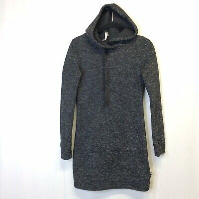 Fabletics Zaylee Pullover Sweater Tunic Fleece Gray Sz XS Extra Small