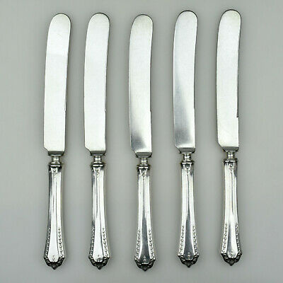 Five Hibbard Spencer Bartlett OVB Our Very Best HEATHER 1913 Dinner Knives