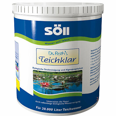 Söll Dr. Roths Pond Clear, 1 kg for 20.000 L, Biological Pond Cleaning And