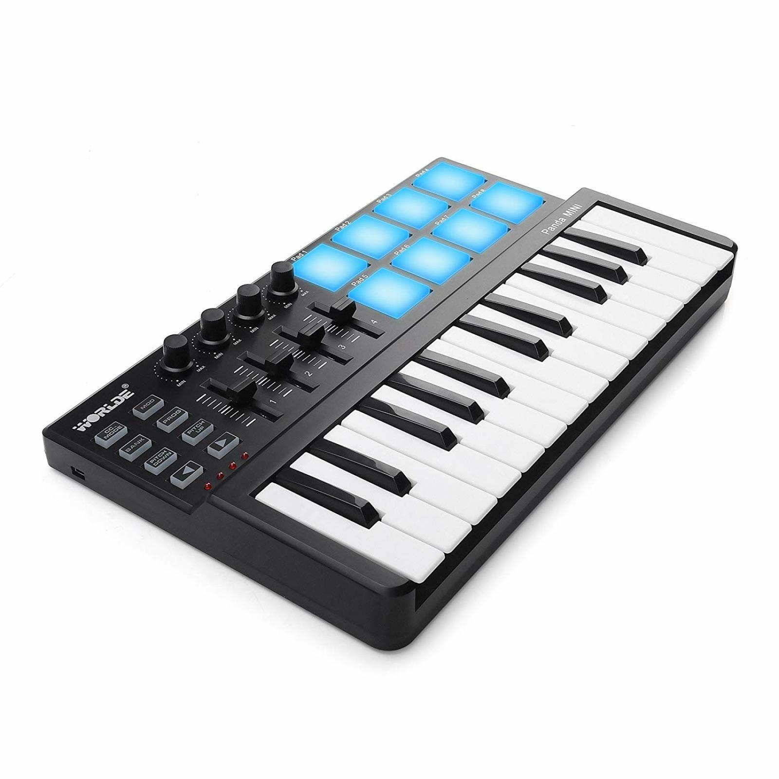 Details about Beat & Music Maker DJ Piano USB MIDI Color Drum Pad &  Keyboard Controller 25 Key