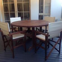 Jarrah 5 piece dinning setting. Flagstaff Hill Morphett Vale Area Preview