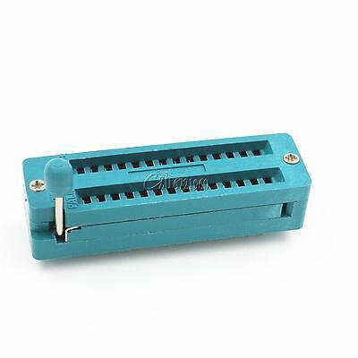 28 Pin 28p Narrow Universal Zif Test Dip Ic Socket 28 Pins Ic Body Socket