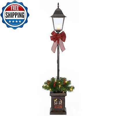 Christmas Decorations Outdoor Yard Decor 4ft Pre-Lit LED Lighted Lamp Post Xmas