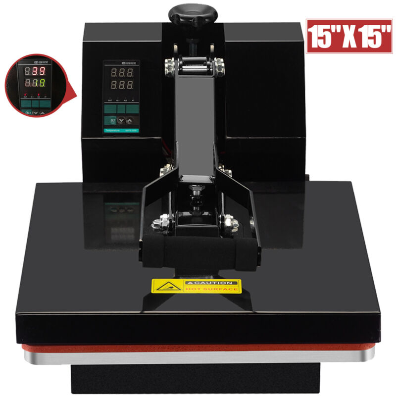 "15"" x 15"" Digital Clamshell Heat Press Transfer Machine Sublimation T-shirt"