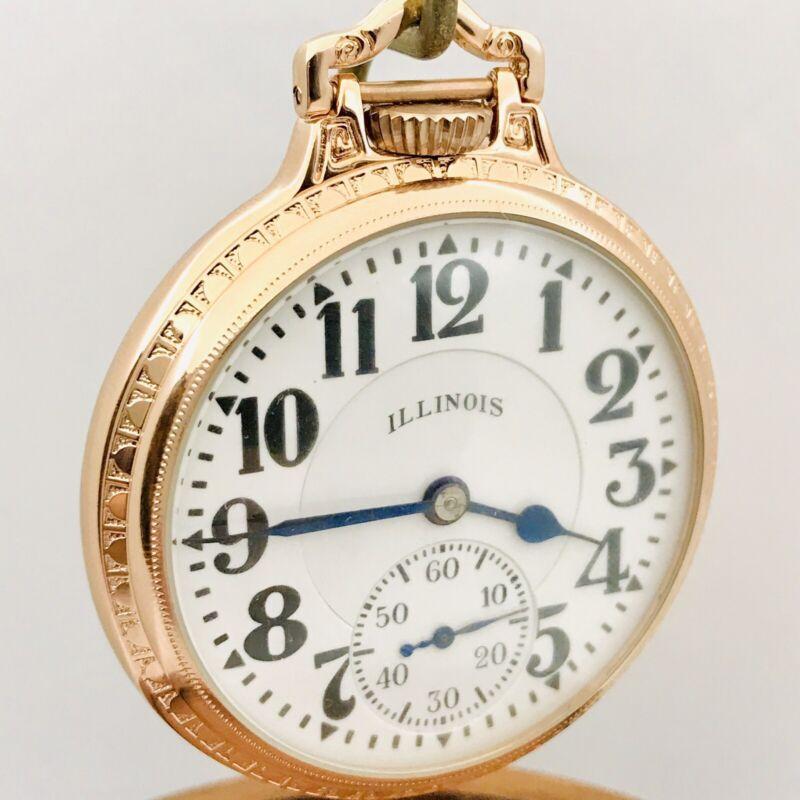 WOW 1939 Illinois 16S 21J Bunn Special Gr 161A 60 Hour Elinvar BOC Pocket Watch