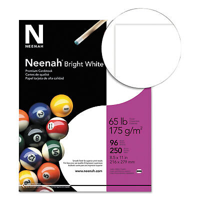 Wausau Card Stock, 65lb, Bright White, 96 Brightness, Letter, 250 Sheets/Pack, P