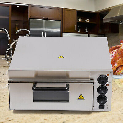 Single Deck Commercial Electric Pizza Oven 2000w 22.2 X 20.6 X 11.5 Inch Steel