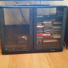 BLACK WOOD AND GLASS TV AND STORAGE UNIT Bondi Eastern Suburbs Preview