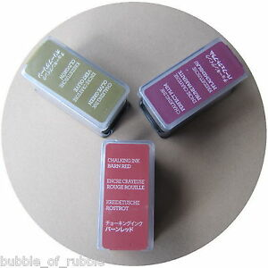 Creative Memories CHALKING INK PAD Perfect Plum, Olive Green or Barn Red Choice