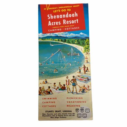 Vtg Shenandoah Acres Resort Island Beach Camping Cottages Travel Brochure READ