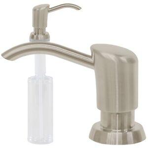 Kitchen Sink Liquid Soap Dispenser Lotion Pump Countertop Arc, Stainless