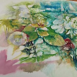 Original Watercolour/Acrylic painting North Melbourne Melbourne City Preview